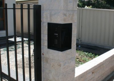 installing-custom-made-wrought-iron-fence-and-gate-with-security-and-intercom-system